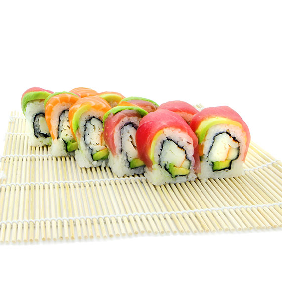 Rainbow Salmon Roll